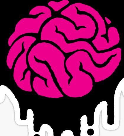 black (heart) brainz Sticker