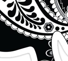 Elephant B&W Vera Pattern Sticker