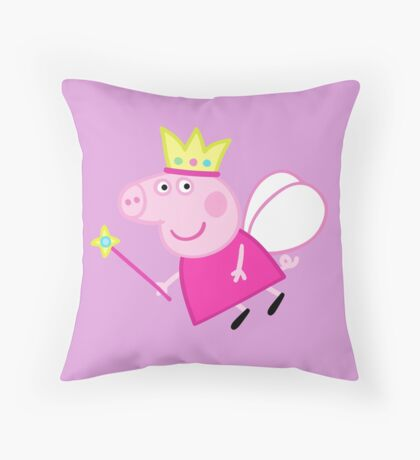 Peppa pig fairy Throw Pillow