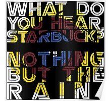 Nothing but the rain [mandala] Poster
