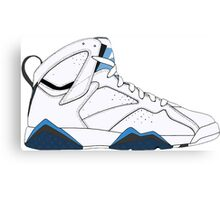 "Air Jordan VII (7) ""French Blue"" Canvas Print"