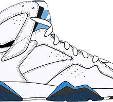 """Air Jordan VII (7) """"French Blue"""" by gaeldesmarais"""