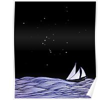 Sailing under Orion Poster