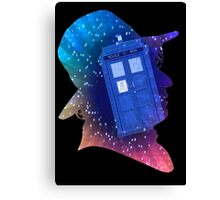 Tom Baker Fourth Doctor Silhouette  Canvas Print