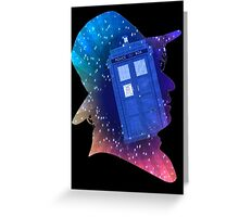 Tom Baker Fourth Doctor Silhouette  Greeting Card