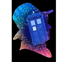 Tom Baker Fourth Doctor Silhouette  Photographic Print