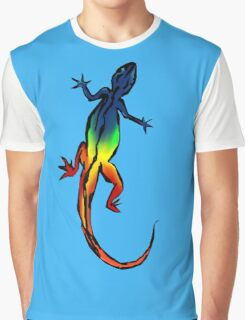 Colored Lizard Graphic T-Shirt
