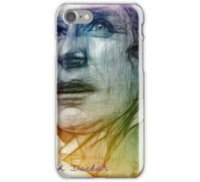 The Eighth Doctor Sketch Drawing in Rainbow Colors iPhone Case/Skin