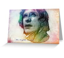 The Eighth Doctor Sketch Drawing in Rainbow Colors Greeting Card