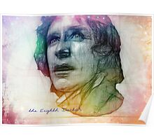 The Eighth Doctor Sketch Drawing in Rainbow Colors Poster