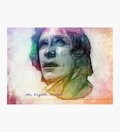 The Eighth Doctor Sketch Drawing in Rainbow Colors Photographic Print