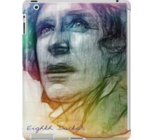 The Eighth Doctor Sketch Drawing in Rainbow Colors iPad Case/Skin