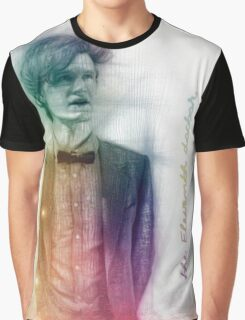 The Eleventh Doctor with pencil sketch Graphic T-Shirt