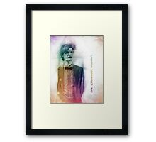 The Eleventh Doctor with pencil sketch Framed Print