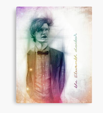 The Eleventh Doctor with pencil sketch Canvas Print