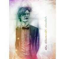 The Eleventh Doctor with pencil sketch Photographic Print