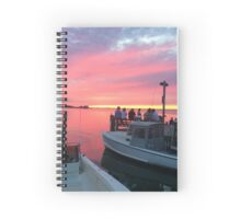 sunset fire island Spiral Notebook