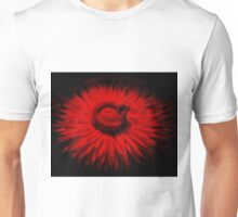 Bee On A Red Flower Unisex T-Shirt