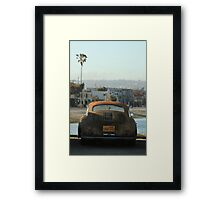 Mission Beach Car Framed Print