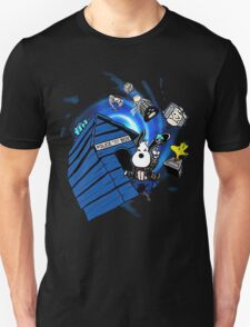 Blue Box with Cartoon Character T-Shirt