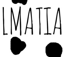 Dalmatian Love Sticker