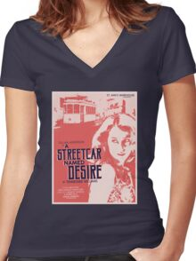 A Streetcar Named Desire Women's Fitted V-Neck T-Shirt