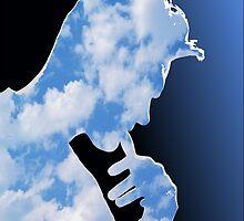 Morrissey in clouds by tospeakisasin