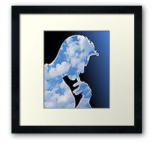 Morrissey in clouds Framed Print