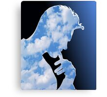 Morrissey in clouds Canvas Print