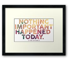 Nothing Important Framed Print