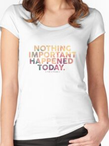 Nothing Important Women's Fitted Scoop T-Shirt
