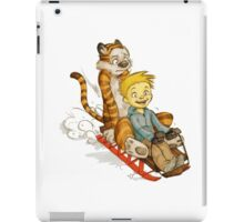 Calvin And Hobbes Speed test iPad Case/Skin