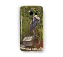 Grooming Great Blue Heron Samsung Galaxy Case/Skin