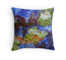 Koi 1 by Sumi Painter William Preston Throw Pillow