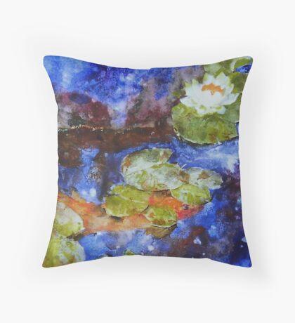 Koi 1 by Sumi Painter William Preston Throw Pillow