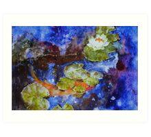 Koi 1 by Sumi Painter William Preston Art Print