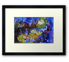 Koi 1 by Sumi Painter William Preston Framed Print