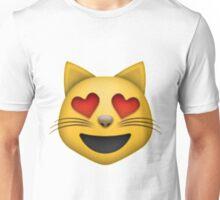 Heart Eyes Cat Emoji Unisex T-Shirt