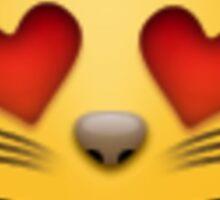 Heart Eyes Cat Emoji Sticker