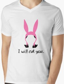 i will cut you // louise Mens V-Neck T-Shirt