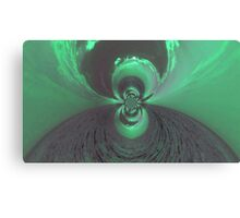 Green Psychedelic Design Canvas Print