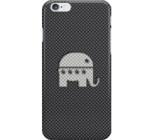 Elephant Republican Party Symbol on Carbon Fiber Material iPhone Case/Skin