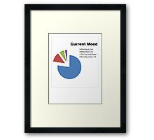 Current Mood Pie Chart Framed Print