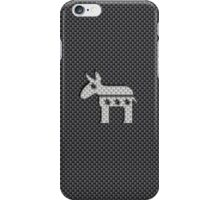 Donkey Democratic Party Symbol on Kevlar Carbon Fiber Material iPhone Case/Skin