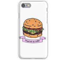 you're so cute // burger iPhone Case/Skin