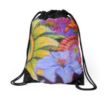 """Floral Graffiti"" Drawstring Bag"