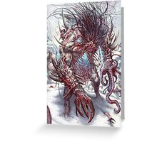 DEMON ZOMBIES Greeting Card