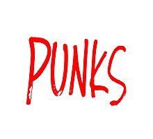 Punks - Red Photographic Print