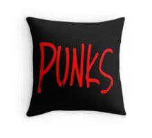 Punks - Red Throw Pillow