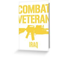Combat Veteran IRAQ T-Shirt Greeting Card